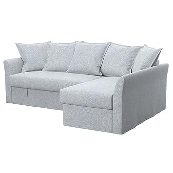 Soferia - IKEA HOLMSUND Funda para sofá Esquina, Naturel ...