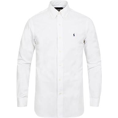 276292a1dd10a Ralph Lauren - Camisa Casual - Básico - con Botones - para Hombre Blanco  Blanco L  Amazon.es  Ropa y accesorios