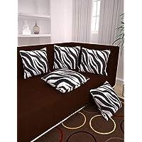 Story at Home White Premium Printed Cushion Cover set of 5 Pcs,Multi