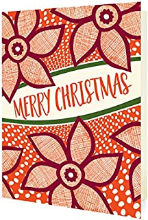 product image for Night Owl Paper Goods Merry Poinsettias Folded Holiday Cards, 10 Pack