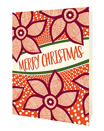 Amazon Com Night Owl Paper Goods Merry Poinsettias Folded Holiday