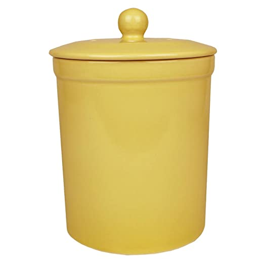 yellow ceramic compost caddy melbury kitchen ceramic compost bin for food waste recycling