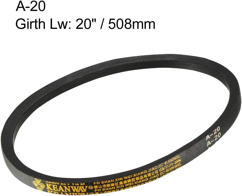uxcell A-20 Drive V-Belt Girth 20-inch Industrial Power Rubber Transmission Belt