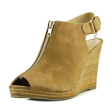 Thalia Sodi Womens Telma Peep Toe Slingback Mules Black Size 55