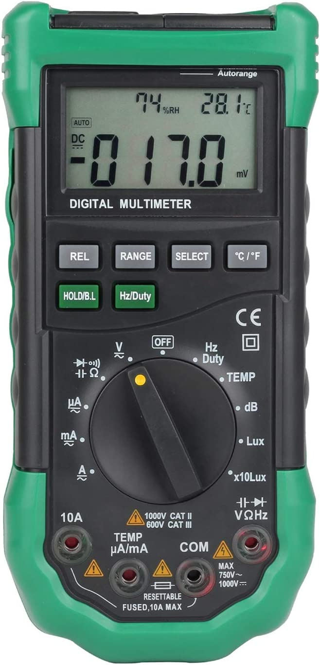 ZITENGZHAI-multimeter MS8229 5 In1 Professional Auto Range Digital Multimeter Multifunction Sound Level Temperature Humidity Tester Meter
