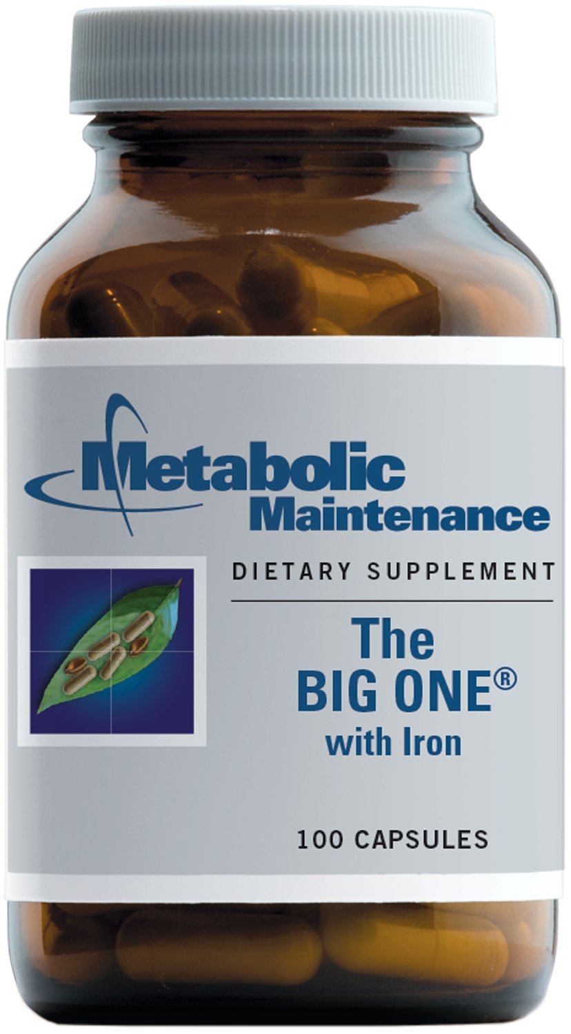 Metabolic Maintenance - The Big One - One-Per-Day + Superior Absorption + Iron 100 Capsules
