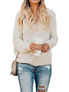 83694cd19da1 CA Mode Women's Casual Long Sleeve Fuzzy Hooded Sweatshirt Solid Fleece  Pullover Tops