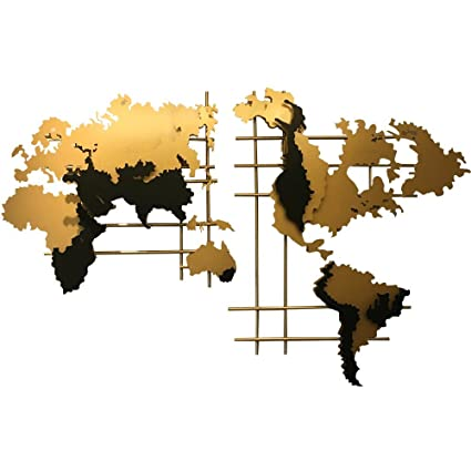 Amazon sankontran handmade creative abstract 71 inches large sankontran handmade creative abstract 71 inches large metal world map wall art decor collectable wall sculpture gumiabroncs Images