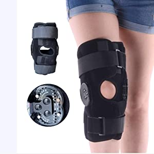 Comfyorthopedic Hinged Knee Brace Adjustable Range of Motion ROM Support Immobilizer for Torn Meniscus, Arthritis, ACL, PCL, MCL, Knee Pain & Mild Osteoarthritis for Men & Women - One Size Fits Most