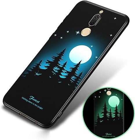 BLUGUL Funda Huawei Mate 10 Lite, Pintura 3D Luminosa, Blando TPU, Ultra-Delgada, Cover para Huawei Mate 10 Lite Bosque: Amazon.es: Electrónica