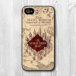 New Fashion Design Marauders Map Pattern Protective Hard Phone Cover Skin Case For iPhone 6 4.7 +Screen Protector