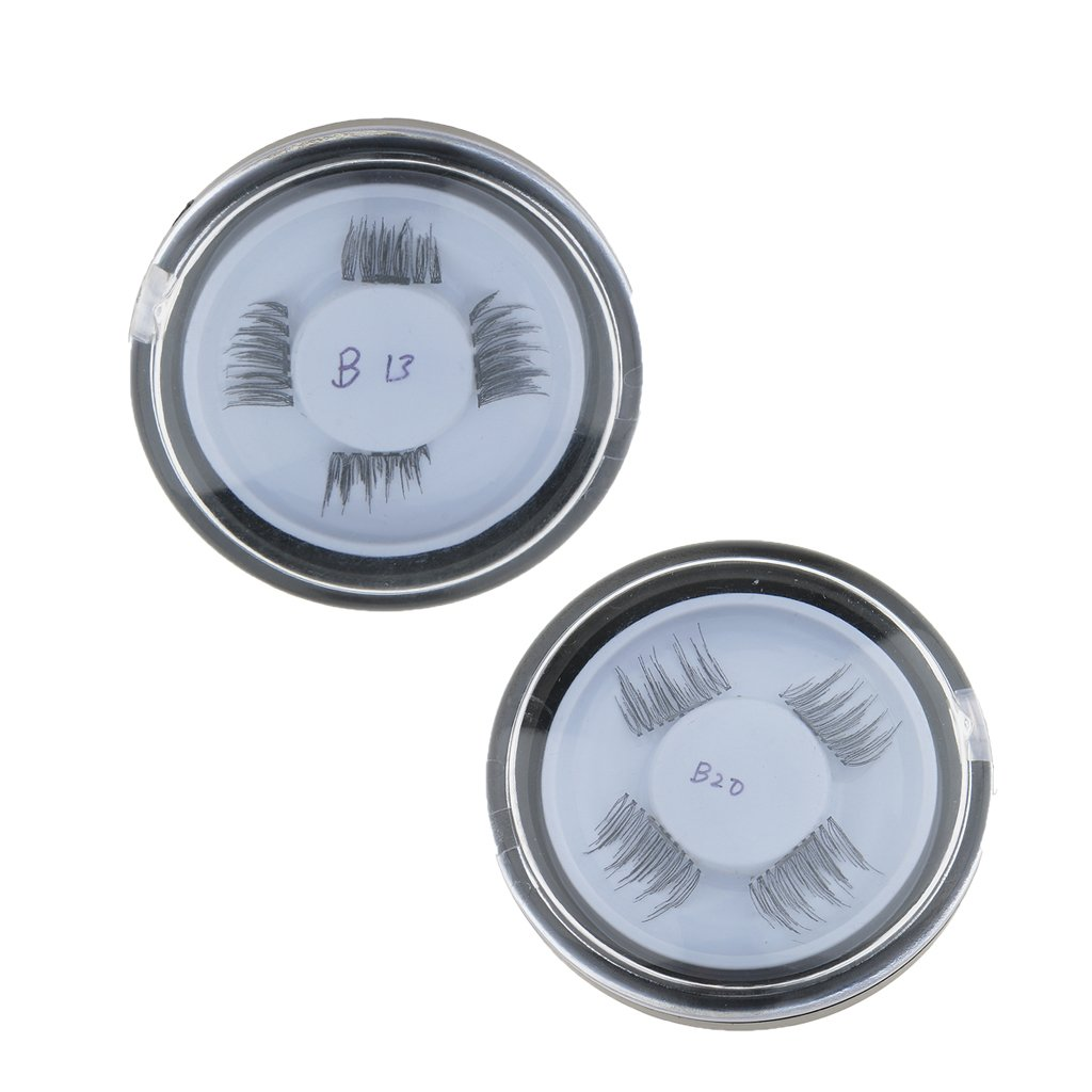 1cc682cc35d Buy MagiDeal 2 Pairs Reusable 3D Magnetic False Eyelashes Magnet Eyelash  Natural Black Eye Lashes Extension Makeup Set No Glue Needed Online at Low  Prices ...