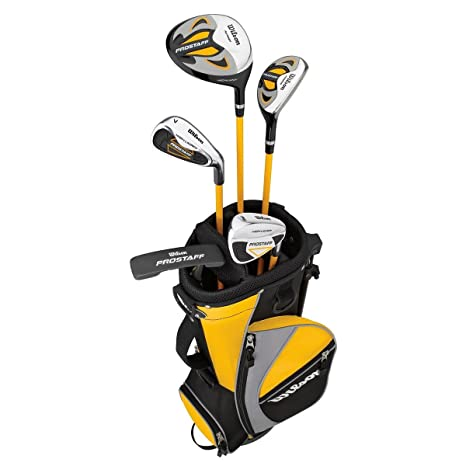 Amazon.com: Wilson Junior Prostaff HDX Yellow Golf Package ...