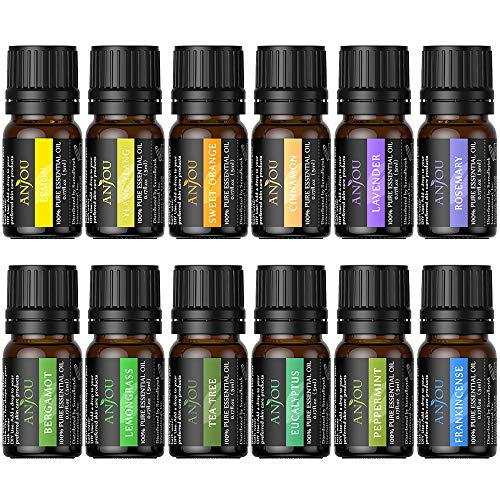 Anjou Essential 12 Piece Oils Set, 5 ml/13.6 Ounce