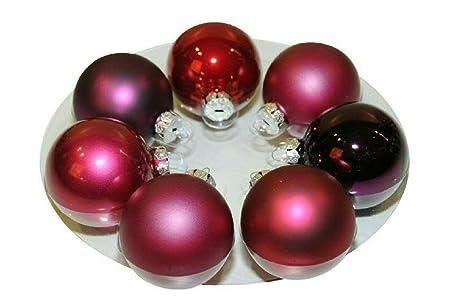 Klocke Weihnachtskugeln Small Glass Christmas Baubles Diameter 4