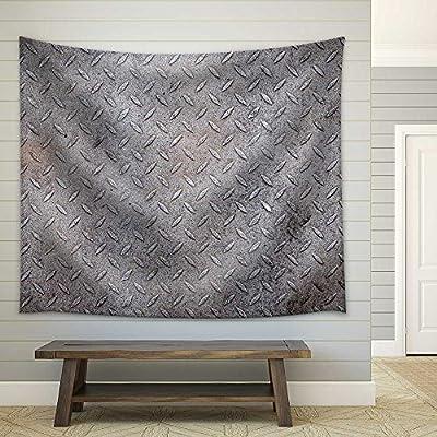 Quality Artwork, Wonderful Artisanship, Dirty Metal Diamond Grip Pattern Texture Fabric Wall
