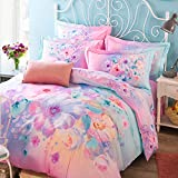 DHWM-100% Cotton Active 4 piece set, Bedding 4 piece set, the wedding is set of bed sheets, cotton bed drugs kit ,2.0m