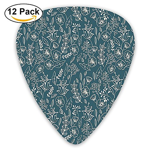 Newfood Ss Vintage Style Spring Blooms Beauty Shabby Chic Flower Victorian Artful Design Guitar Picks 12/Pack -