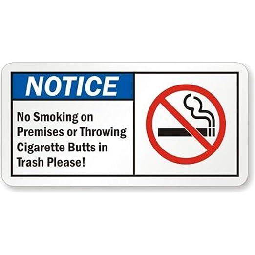 Diuangfoong Aviso de no Fumar en Locales o tirando ...
