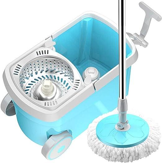 Fregona y Cubo Set Spin Mop Bucket System Acero Inoxidable 360 ...