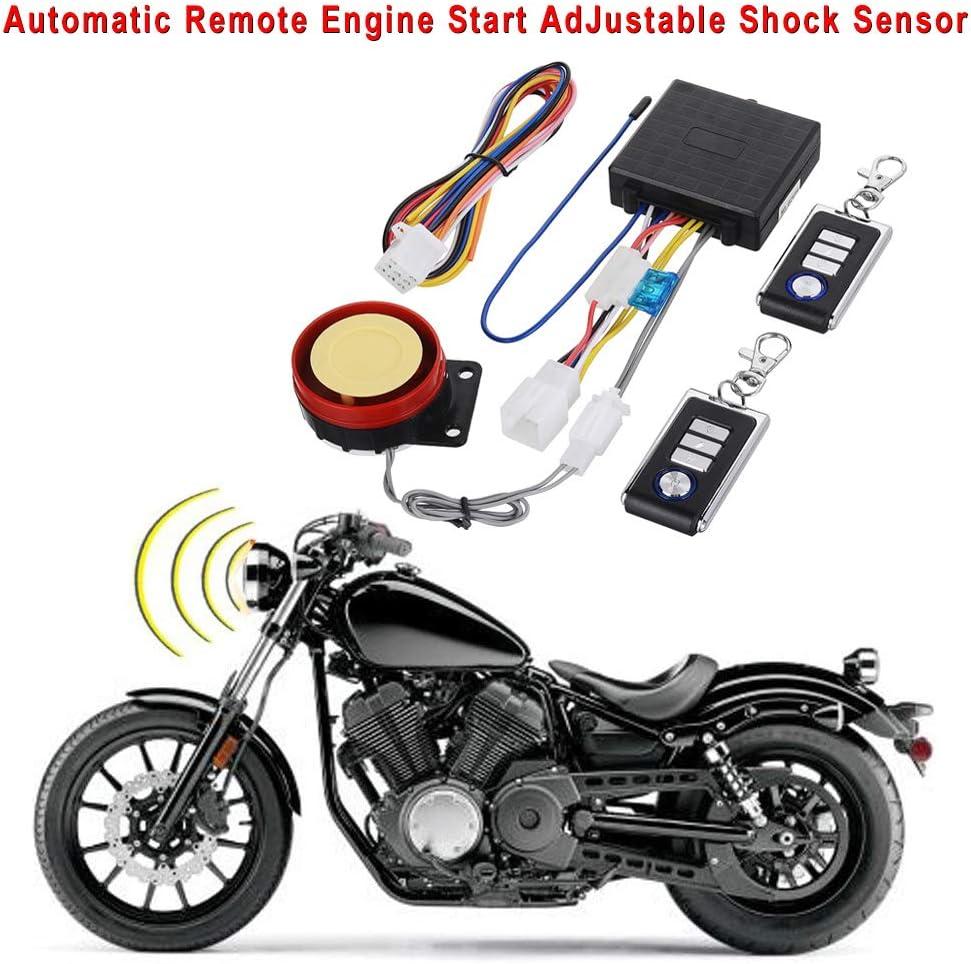 KKmoon Syst/ème dalarme antivol Universel pour Moto DC12 V
