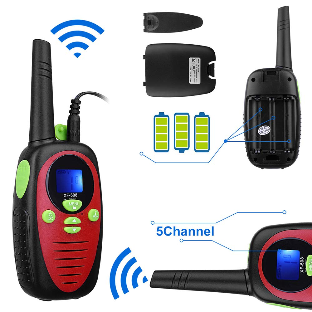 DJG Rechargeable Remote Two-Way Radio Walkie-Talkie 0.5w Children's Toy Walkie-Talkie 22-Channel Two-Way Radio(2packs) by DJG (Image #5)