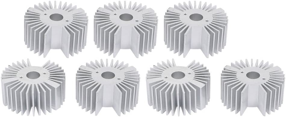 NA 7pcs Aluminum Heat Diffuser Heat Sink Radiator Cooling fin Cooler 50mm x 22mm for LED lamp