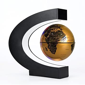 Eu Gold Levitation Anti Gravity Globe Magnetic Floating Globe World Map Led Light For Children Gift Home Office Desk Decoration In Short Supply Home