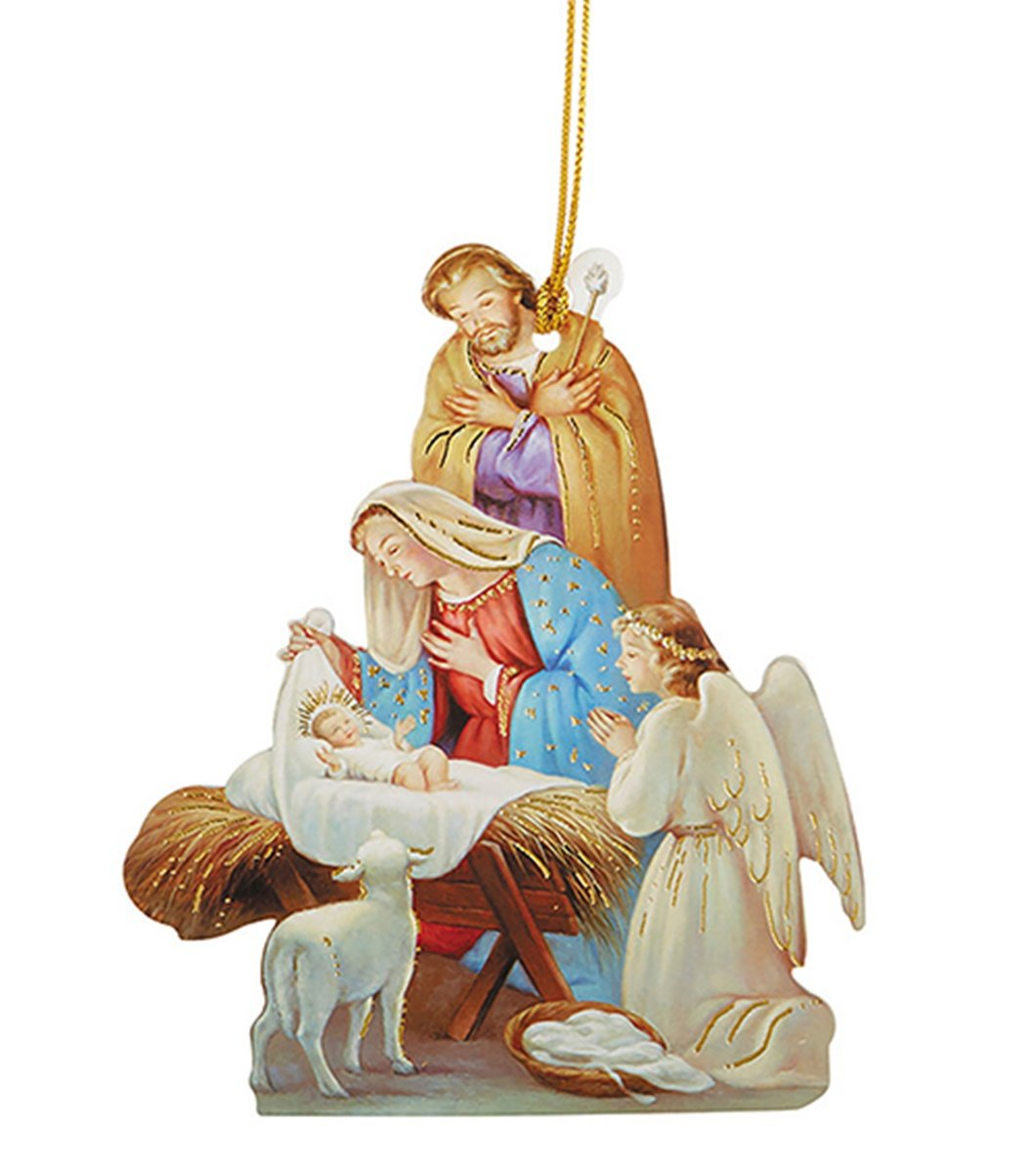 Praying Angel Laminated Cardstock Nativity Ornament with Bible Verse, Pack of 50