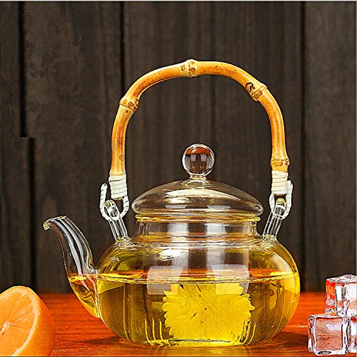 TOWA Workshop Glass Teapot with Infuser 20 oz, Microwavable and Stovetop Safe Tea Pot, Great for Flowering Tea