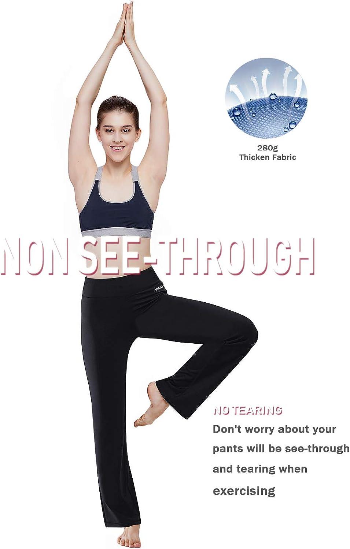 Amazon.com: Pantalones de yoga HISKYWIN de bolsillo interior ...