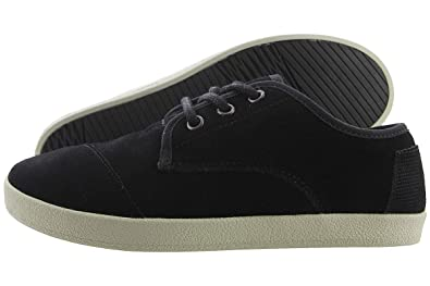 f215457c27c TOMS Women s Paseo Sneaker Black Suede Shearling 5.5 ...