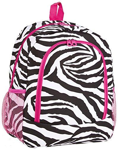 Ever Moda Zebra School Backpack (Pink)