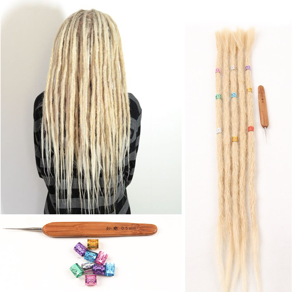 DSOAR Synthetic 20 Inch 12 Strands Handmade Dreadlocks Extensions Twist Braiding Hair Crochet Braids (Light Brown Color) DSOAR CO. LTD