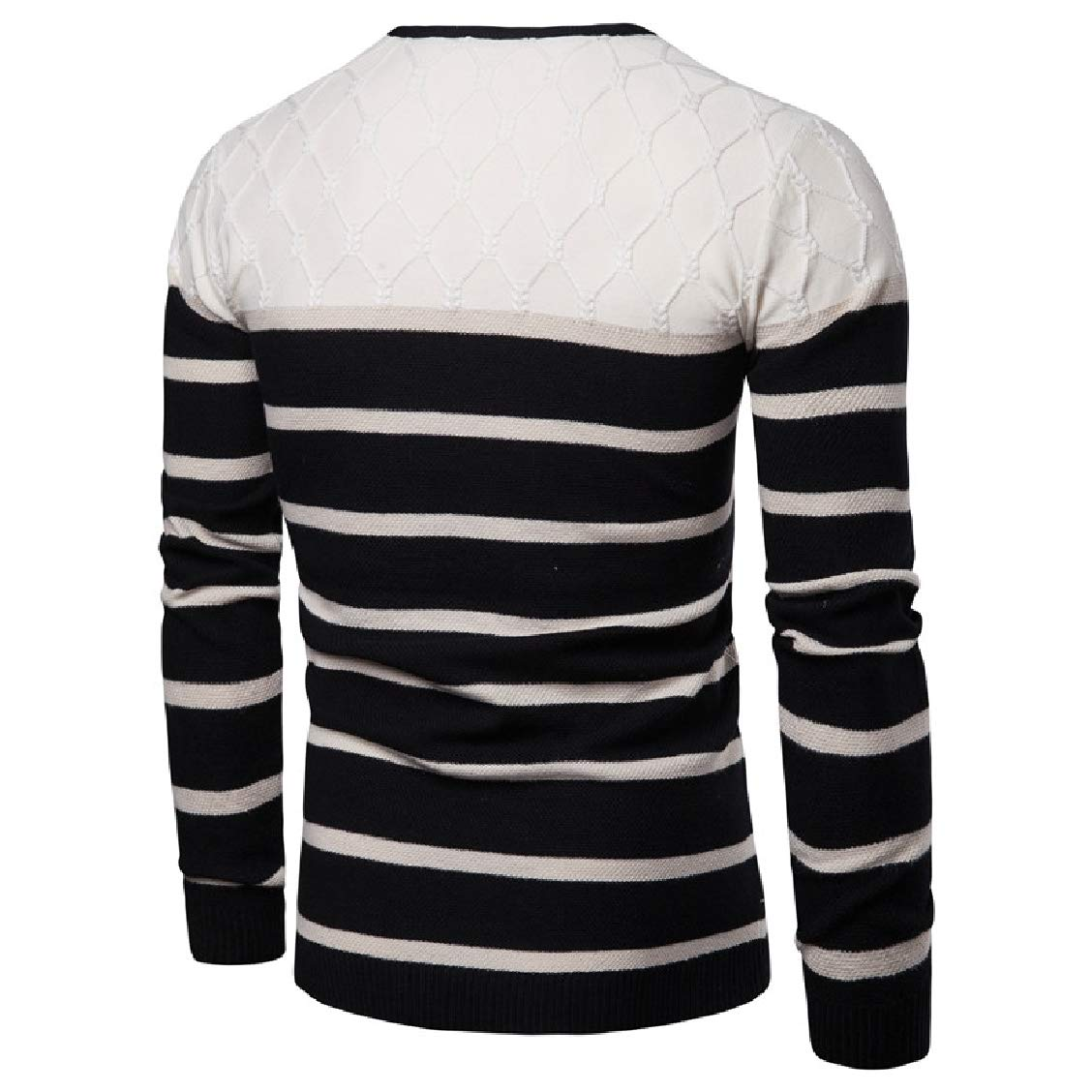 Fieer Mens Pullover Stretch Plus Size Knit Top Pullover Sweater