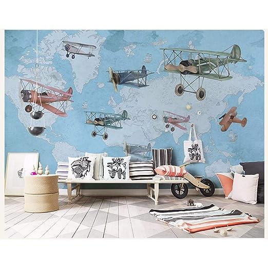 Murales Avión De La Vendimia 3D Pared Foto De Dibujos Animados ...