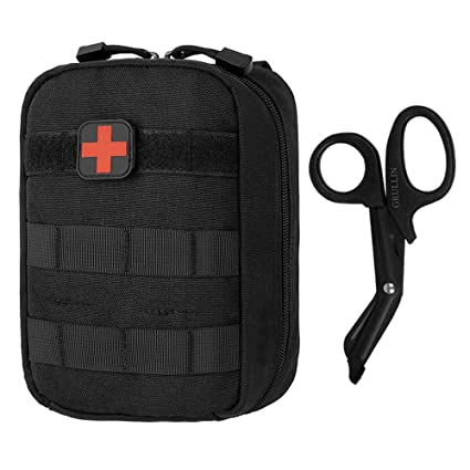 GRULLIN Bolsa de botiquín de primeros auxilios, Tactical MOLLE Medical IFAK Rip-Away EMT Pouch Emergency Survival Bolsa pequeña para el hogar, coche, ...
