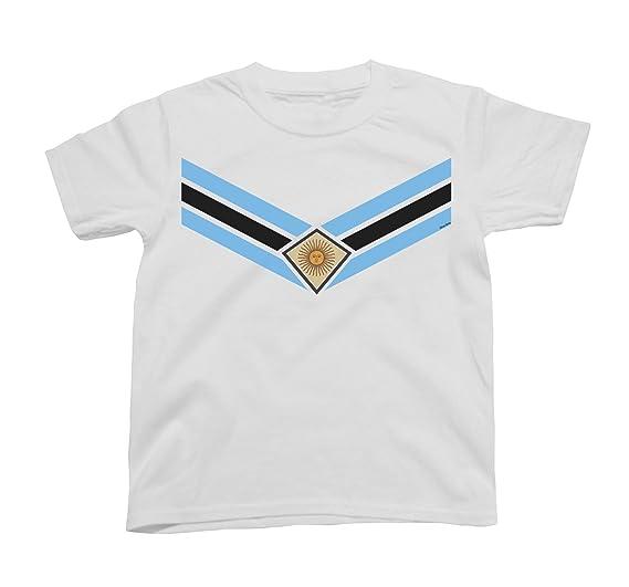 Kids Argentina Team Emblem Niños O Niñas Fútbol Camiseta Copa Mundial 2018 Retro Sports: Amazon.es: Ropa y accesorios