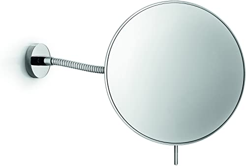 LB Wall Mounted Cosmetic Makeup Magnifying Mirror, Brass, Polished Chrome, 3X