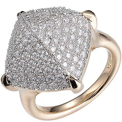 41857219f281b Amazon.com: 14K Yellow Gold Diamond Pyramid Ring: Jewelry