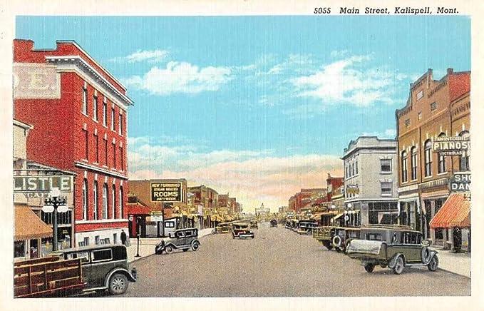 Kalispell Montana Main Street Piano Victrola Shop Vintage