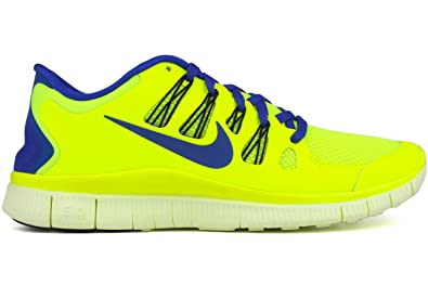 Nike Mens Free 5.0+ Breathe Running Volt Synthetic Shoe - 10.5 D(M)