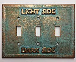 Star Wars (Light/Darkside) Triple Light Switch Cover (Aged Patina)
