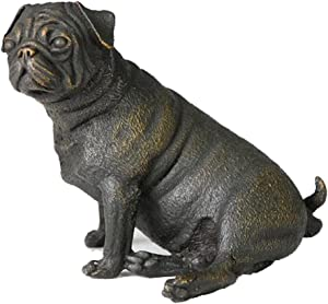 Toperkin Dog Statues Bulldog Bronze Sculptures Home Decor Metal Figurines