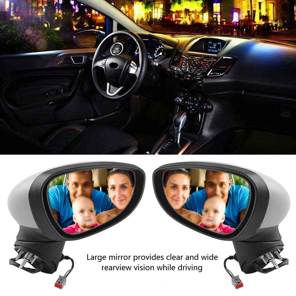 Nosii Electric Complete Wing Door Mirror Rear View Mirror for Ford Fiesta MK7 2008-2012 Color : Left passenger side
