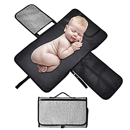 Portátil Bebé Cambiador,Almacenamiento y Cojín Para Cabeza, Impermeable Cambio de Pañales Estación con