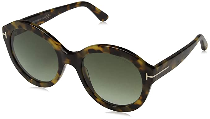 1fbdf7f739 Tom Ford FT0611 55P 53 Montures de lunettes, Marron (Avana Colorata/Verde  Grad