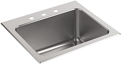 Kohler K 5798 3 Na Ballad 25 Inch X 22 Inch Top Mount Utility Sink