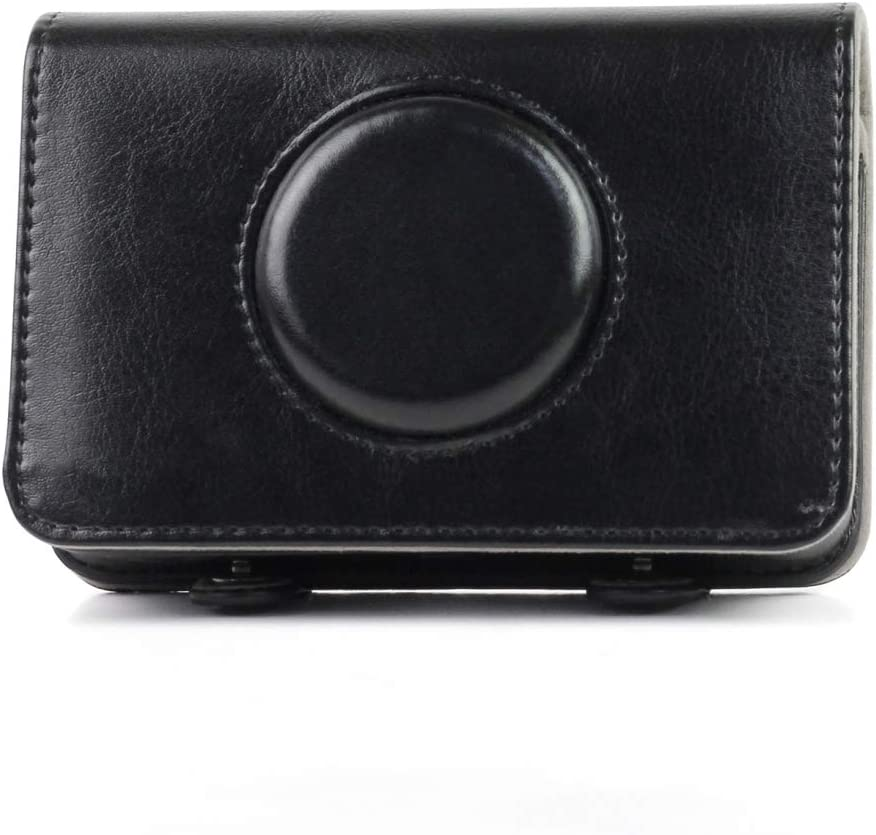 JINGZ Solid Color PU Leather Case for Polaroid Snap Touch Camera Durable Color : Black
