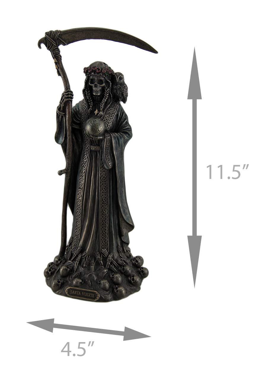 Veronese Santa Muerte Antique Bronze Finish Grim Reaper